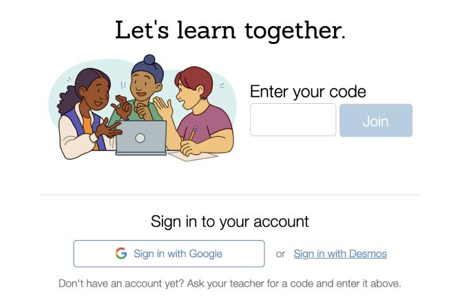 Student login page. Screenshot.