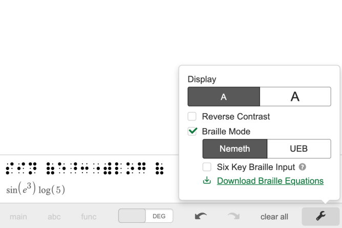 Refreshable Braille Display. Screenshot.