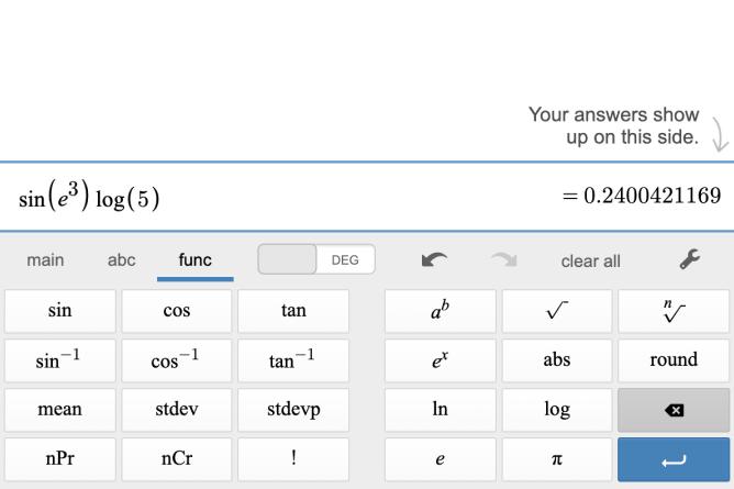 Function Keyboard. Screenshot.