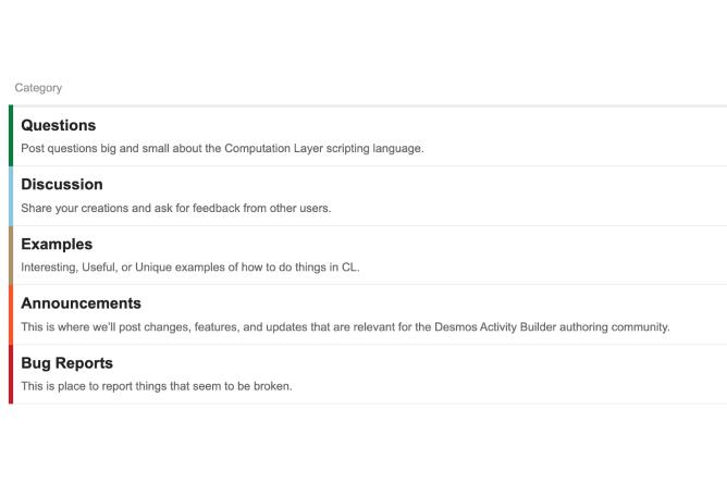 Computation Layer Discussion Forum. Screenshot.