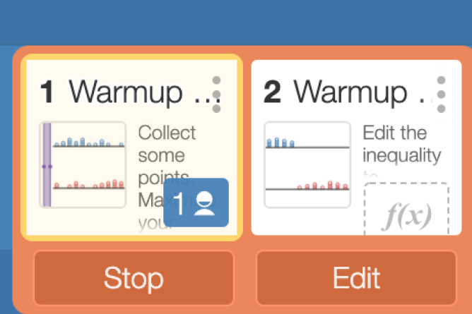 Range of Screens Paced. Screenshot.
