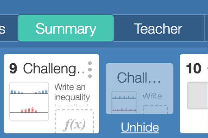 Teacher Dashboard With Hidden Screen. Screenshot.
