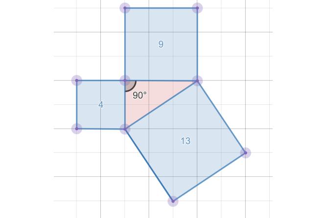 Geometry Constructions Showing Areas. Screenshot.
