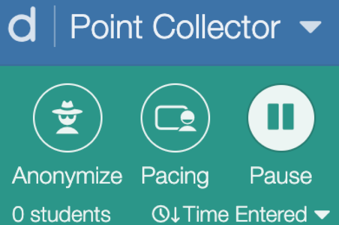 Teacher Dashboard With Pause Activated. Screenshot.