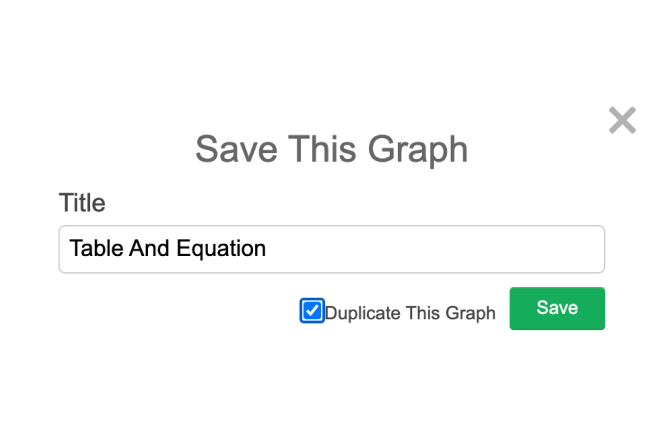 Pop Up Window To Name A Graph With Duplicate Graph Selected. Screenshot.