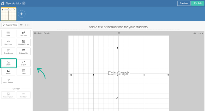 Graph component on a screen in Activity Builder editor. Screenshot.