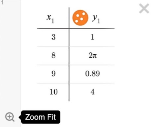 Image showing a table. Screenshot.
