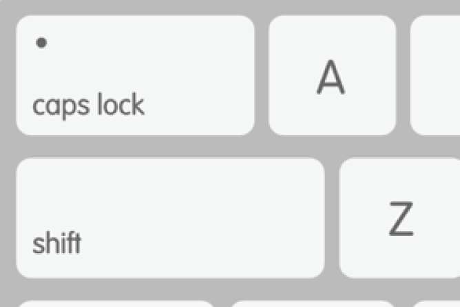 Keyboard Close Up. Screenshot.